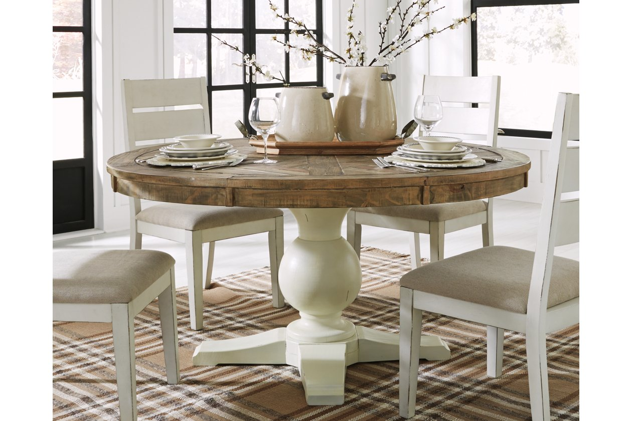 Grindleburg Round Dining Room Table By Ashley