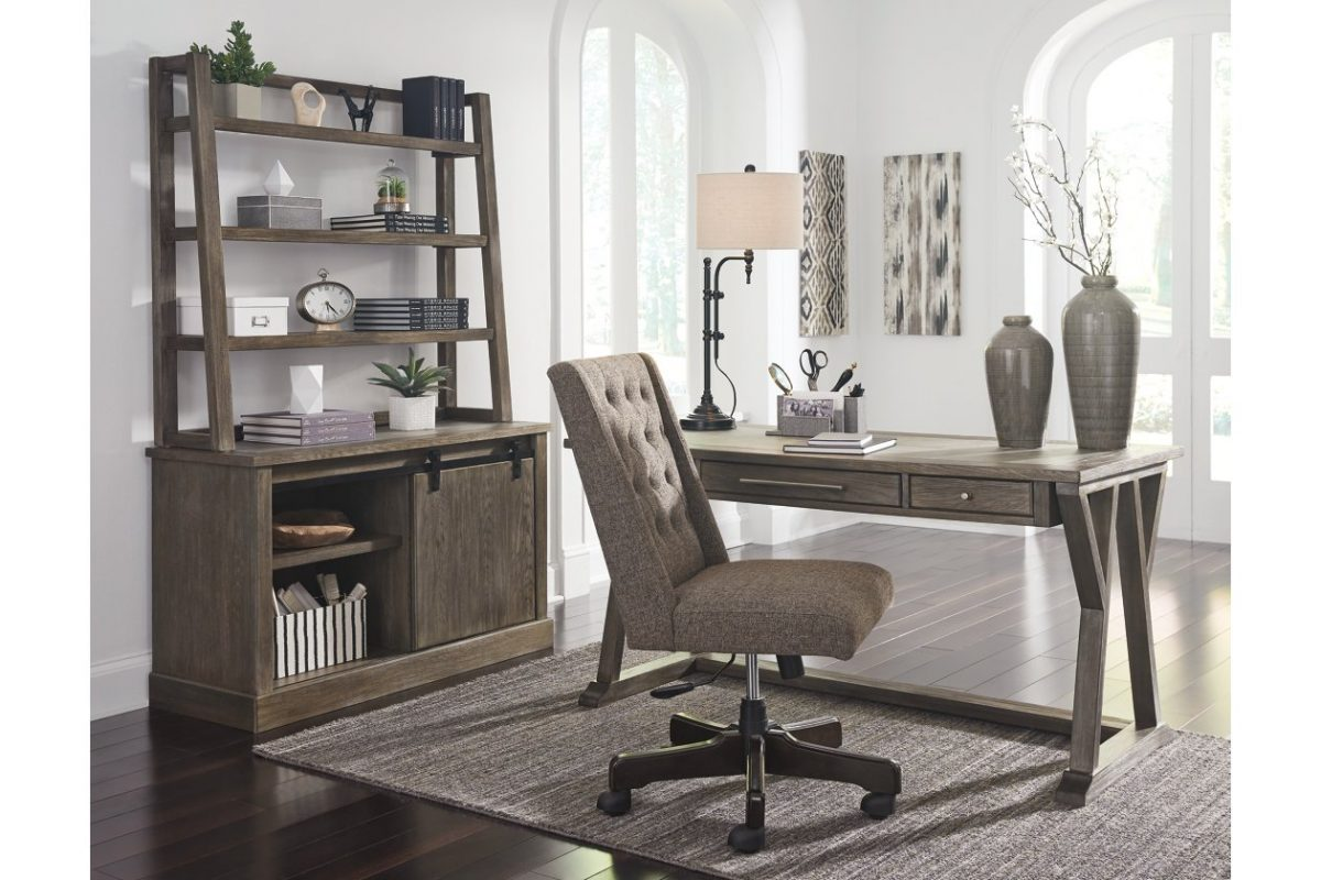 luxenford 60 quot home office desk by ashley a m discount