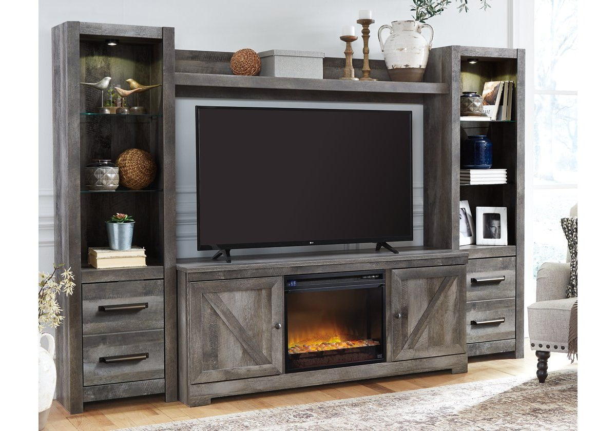 Tv Stand With Fireplace A M Discount Furniture